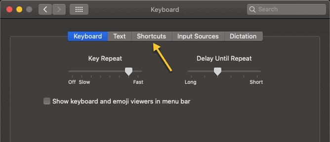 Mac Shortcut Options