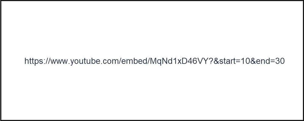Youtube Start End Embed Code
