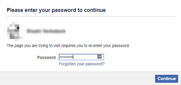 Deactivate Facebook Account Confirmation